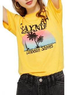 Topshop Cayman Island Print T-Shirt