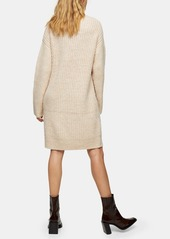 Topshop Central Cable Long Sleeve Sweater Dress
