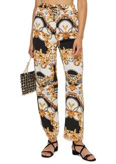 Topshop Chain Slouch High Waist Trousers