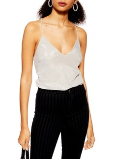 Topshop Chainmail Tie Camisole