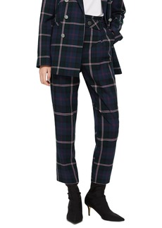 Topshop Check Belted Trousers
