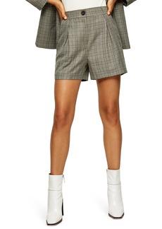 Topshop Check Pleat Shorts