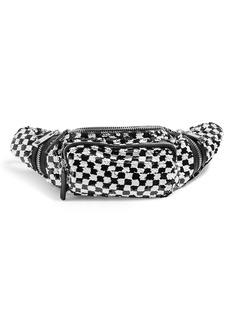 Topshop Check Sequin Belt Bag