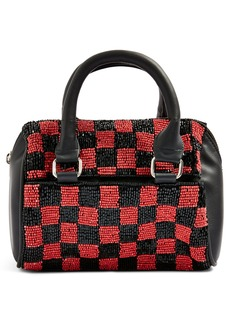 Topshop Checkerboard Mini Bowler Bag