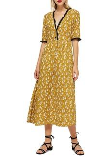 Topshop Cheetah Midi Dress