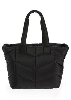 Topshop Chevron Quilted Tote - Black