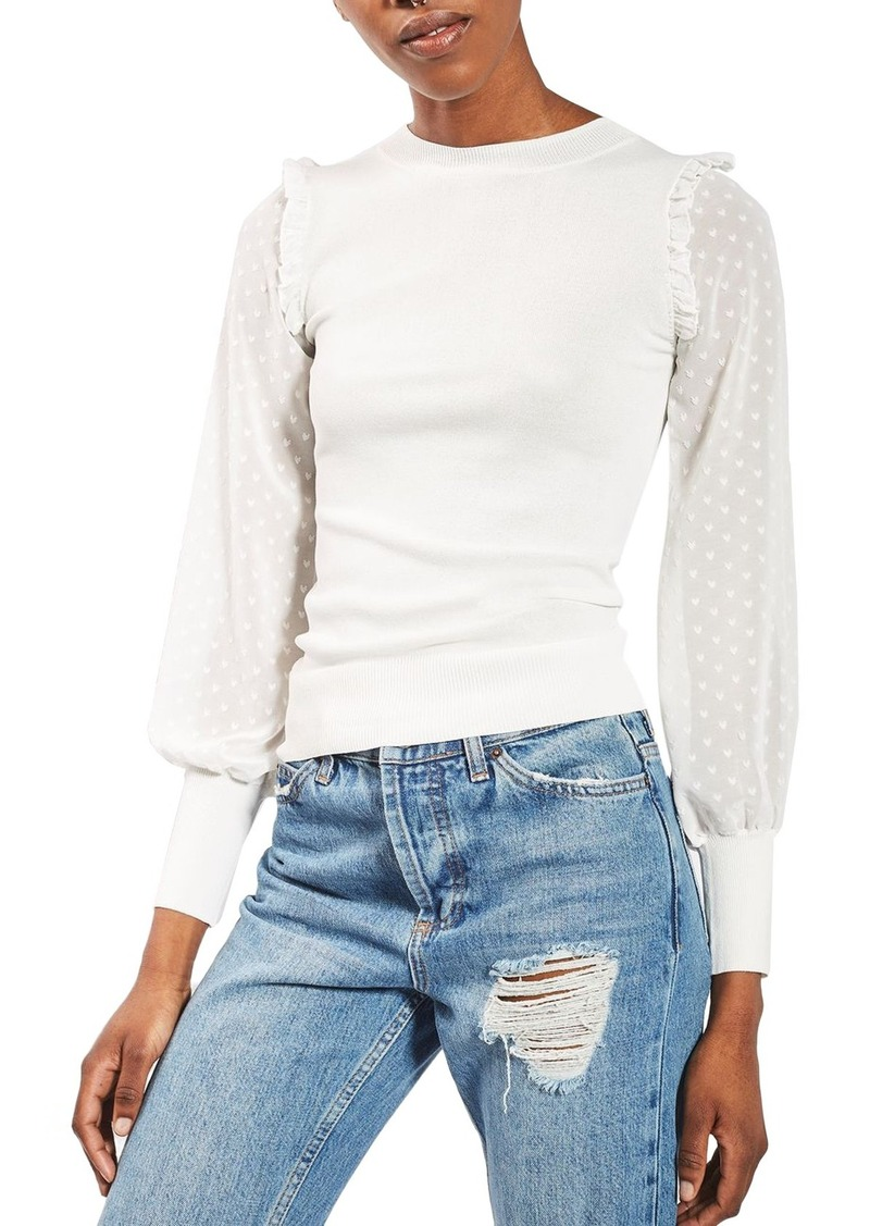 Topshop Topshop Chiffon Sleeve Sweater | Sweaters - Shop It To Me