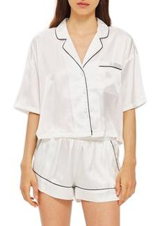 Topshop Chloe Satin Short Pajamas