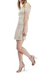 Topshop Circle Lace Cold Shoulder Dress (Regular & Petite)