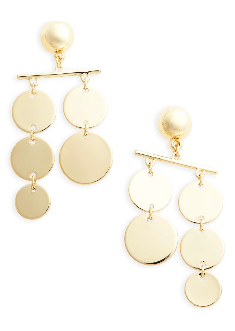 Top Circle Mobile Earrings