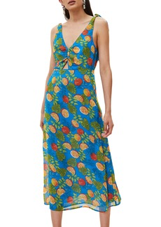 Topshop Citrus Tie Shoulder Midi Sundress