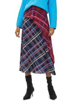 Topshop Clan Clash Check Midi Skirt