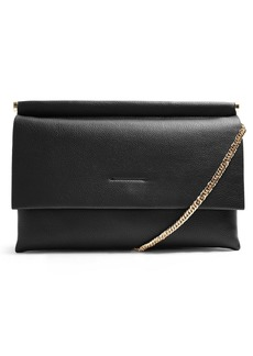 Topshop Clara Faux Leather Clutch