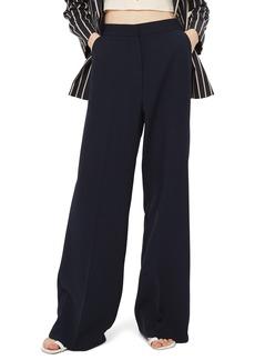 Topshop Clean High-Waist Wide Leg Trousers