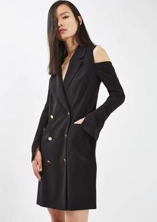 Topshop Cold Shoulder Blazer Dress