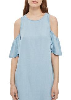 Topshop Cold Shoulder Shift Dress