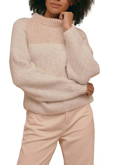 Topshop Colorblock Dolman Sleeve Sweater