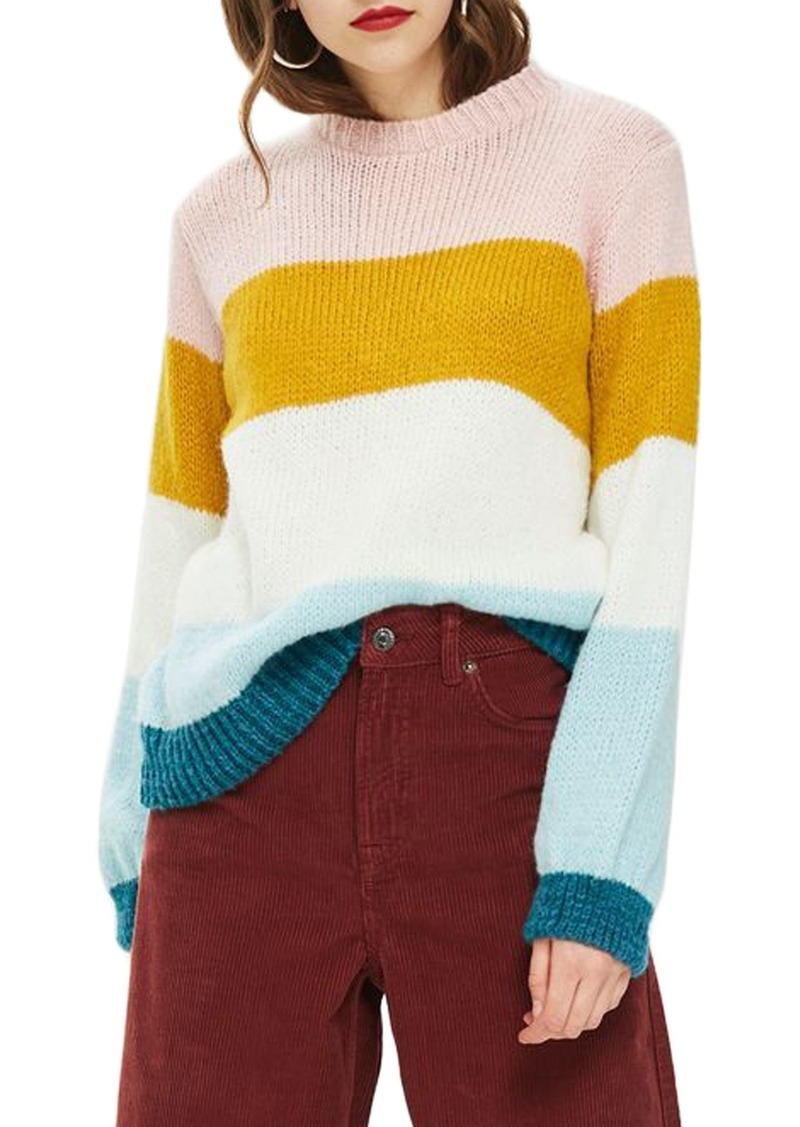 94eef5226 Topshop Topshop Colorblock Knit Pullover