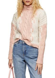 Topshop Colorblock Sweater