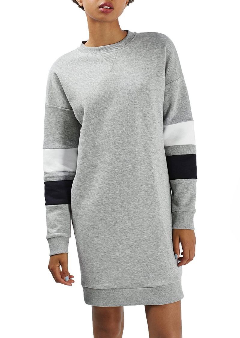 Topshop Colorblock Sweatshirt Dress