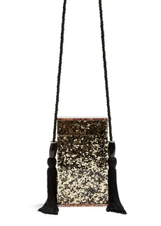 Topshop Como Glitter Tassel Shoulder Bag