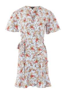Topshop Confetti Floral Wrap Tea Dress