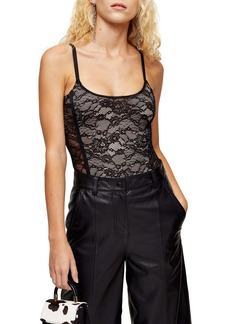 Topshop Contrast Lace Bodysuit