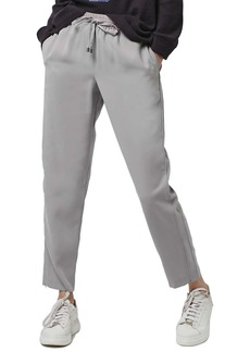 Topshop Contrast Piped Ankle Zip Jogger Pants
