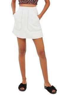 Topshop Contrast Stitch Skirt