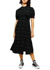 Topshop Conversational Back Cutout Midi Dress (Petite)