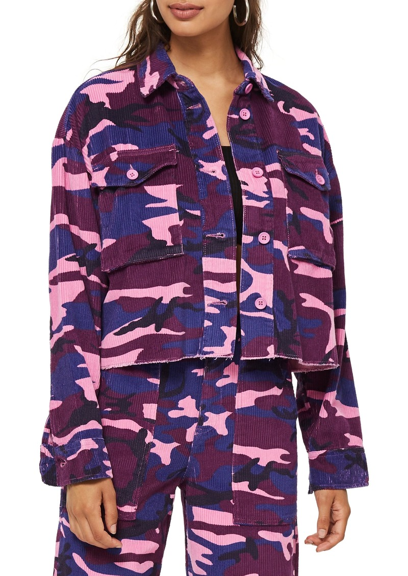 Topshop Corduroy Camo Jacket