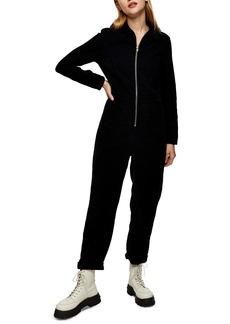 Topshop Corduroy Front Zip Jumpsuit