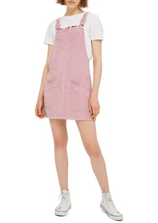 Topshop Corduroy Pinafore Dress
