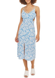 Topshop Cornflower Cutout Slipdress