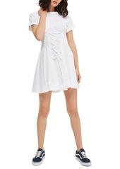 Topshop Corset Front Flippy Tunic Dress