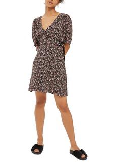 Topshop Corset Side Floral Tea Dress