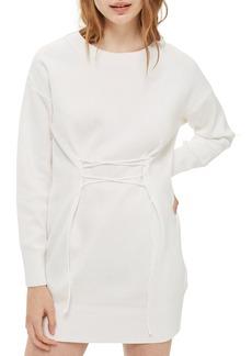 Topshop Corset Sweater Dress