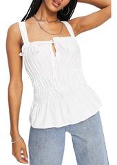 Topshop Cotton Poplin Corset Camisole