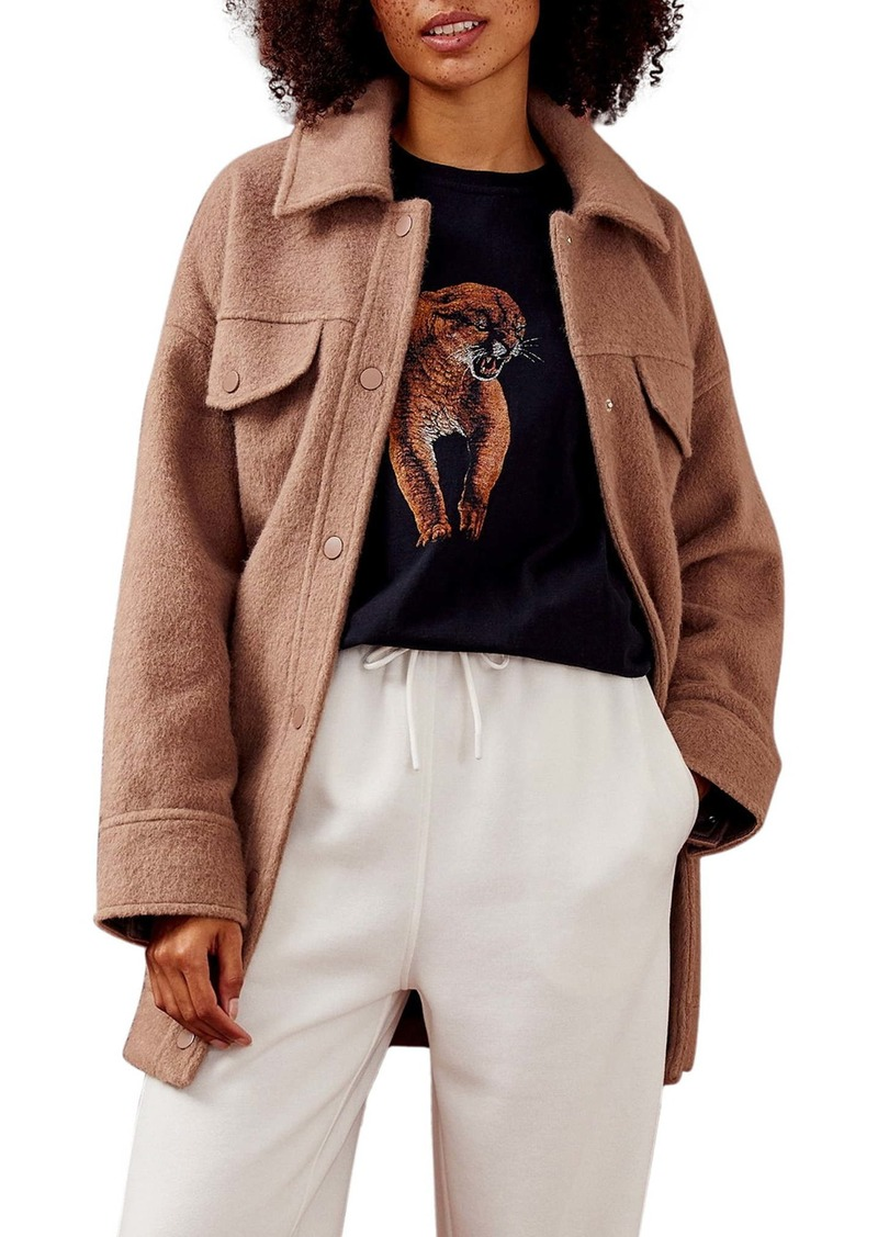 Topshop Cougar Oversize Graphic Tee