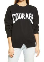Topshop Courage Graphic Sweatshirt