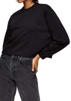 Topshop Crewneck Crop Sweatshirt