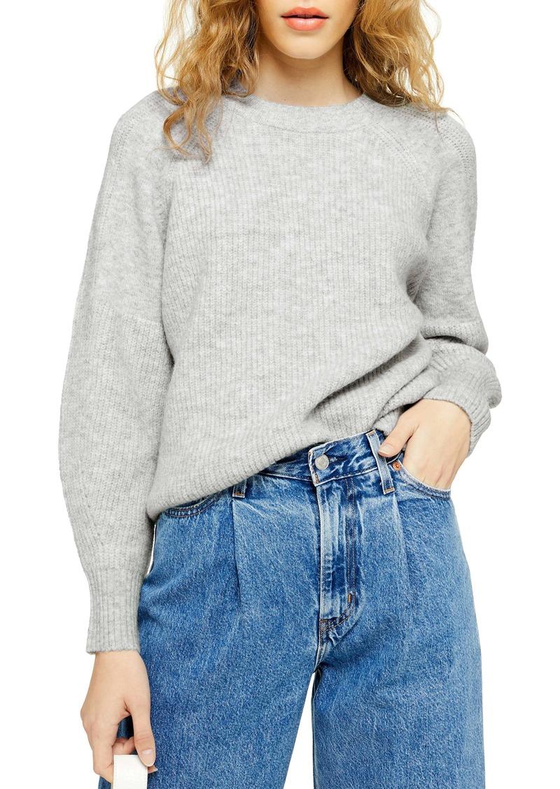 Topshop Crewneck Sweater (Regular & Petite)