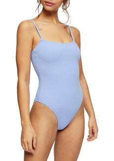 Topshop Crinkle Cami One-Piece Swimsuit