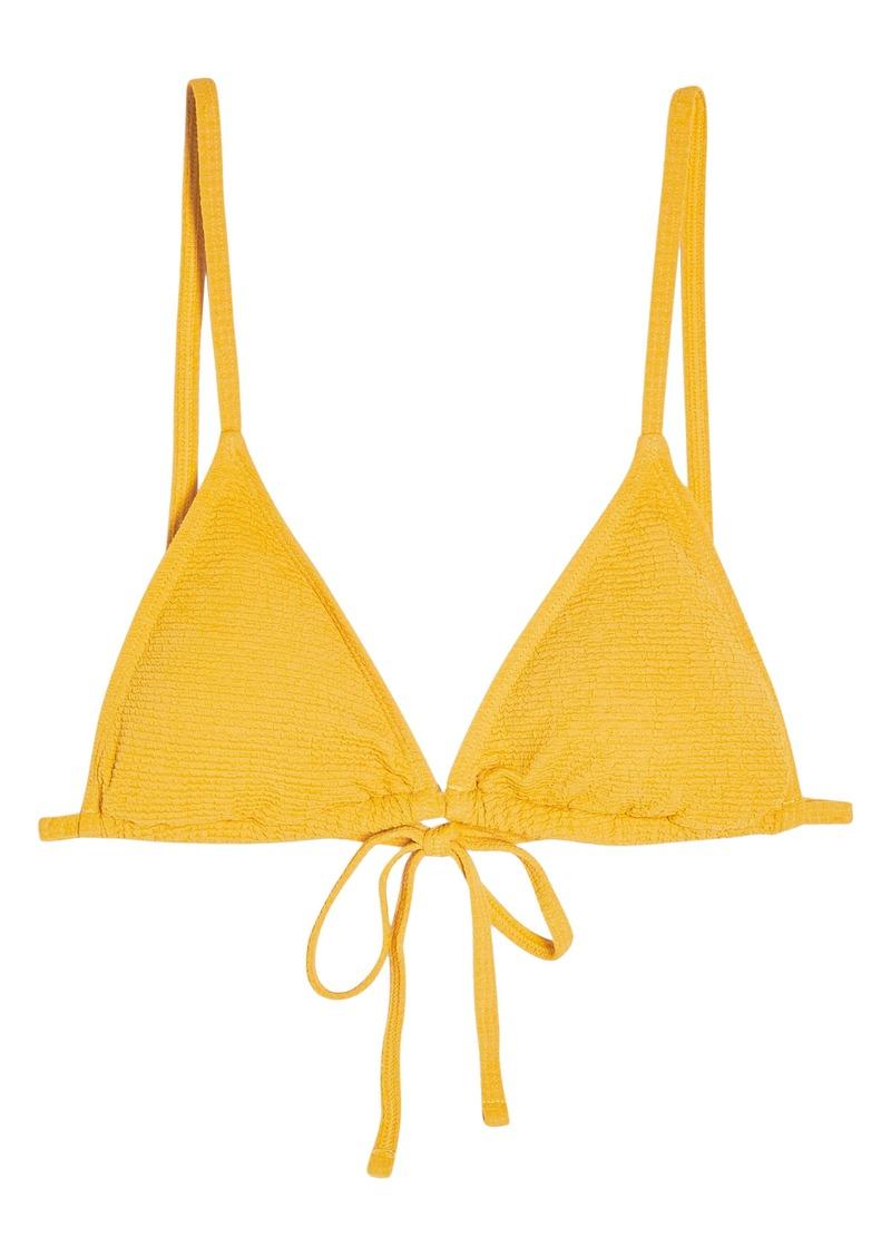 Topshop Crinkle Padded Triangle Bikini Top