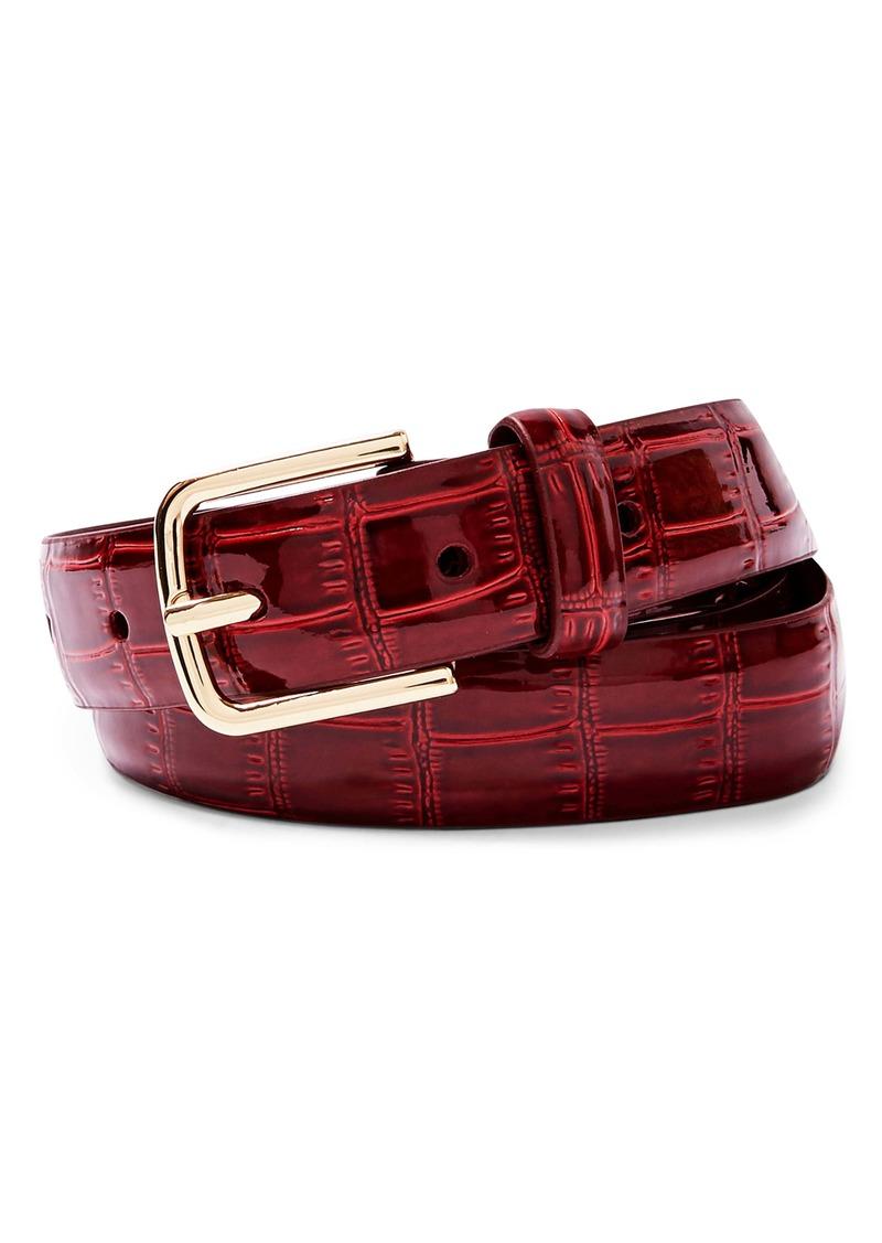 Topshop Croc Embossed Patent Belt