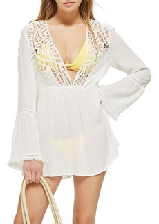 Topshop Crochet Caftan Cover-Up