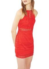 Topshop Crochet Trim Lace Dress (Regular & Petite)