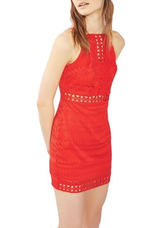 Topshop Crochet Trim Lace Dress (Regular & Petite)