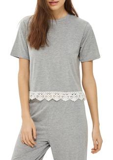 Topshop Crochet Trim Pajama Top