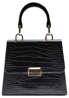 Topshop Crocodile Embossed Flap Handbag